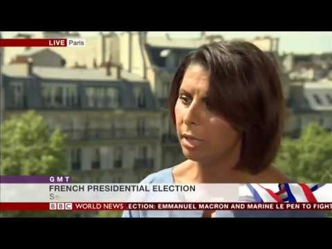 Nabila Ramdani - BBC World News - 1st Round French Presidential Election Result - 24 April 2017