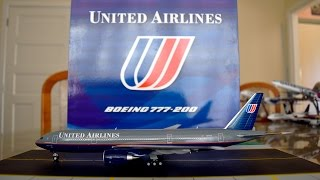 """JC Wings 1:200 United Airlines 777-200 """"Working Together"""" Unboxing and Review"""