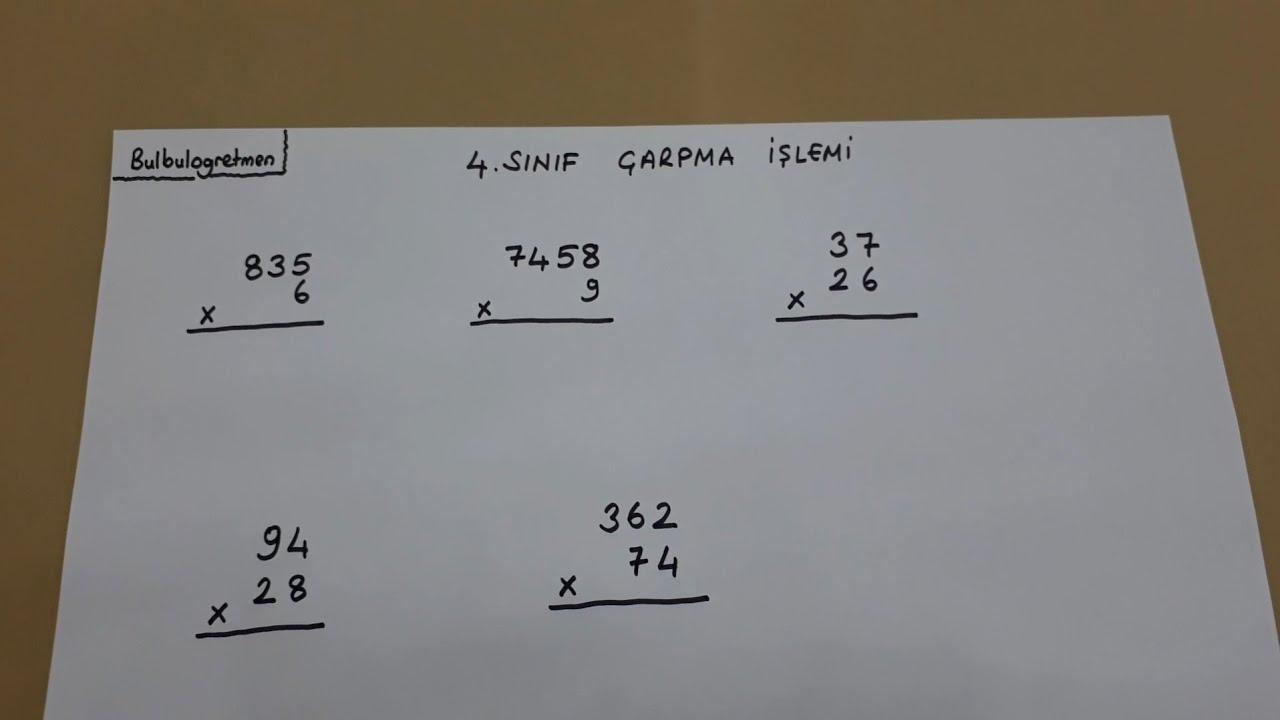 4.sınıf çarpma işlemi #Bulbulogretmen #4 #çarpma