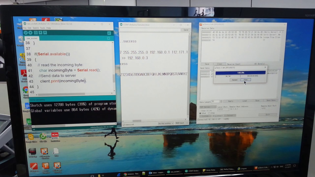 Arduino - Raw TCP Client - PHPoC Forum