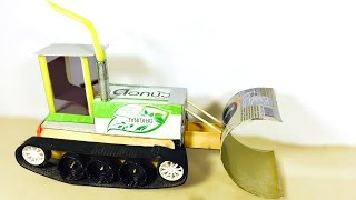 WOW! Awesome Tractor DIY - How to make a Powered Tractor using dc motor at home easy