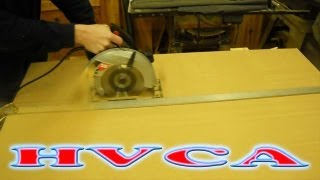 How To; Cutting 4x8 MDF Sheets, Straight