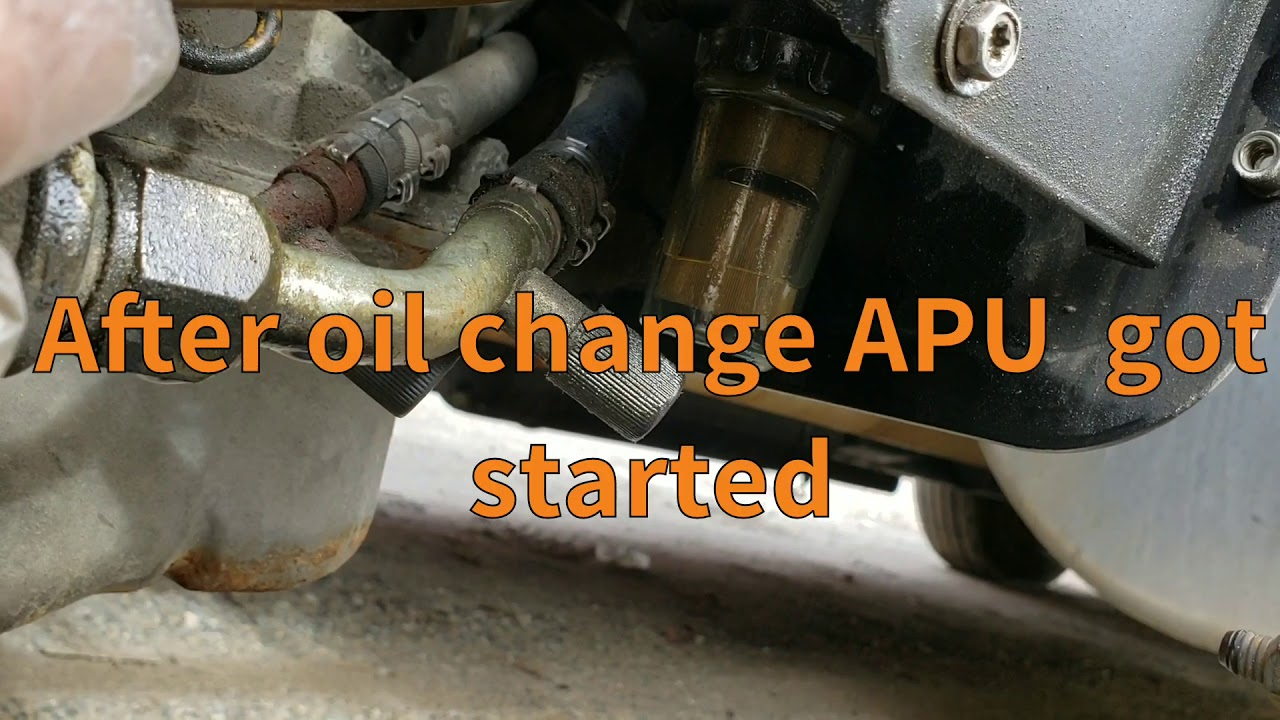 Repeat Tripac Thermo King APU Maintnance, oil change and