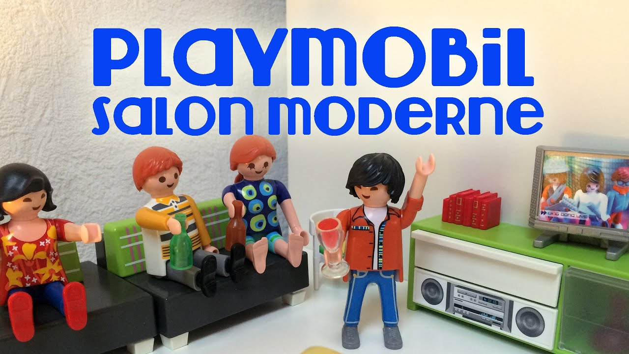 Playmobil 5584 le salon de la maison moderne bianca youtube for Maison moderne playmobil