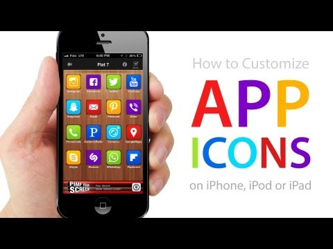 How to CUSTOMIZE APP ICONS on ...