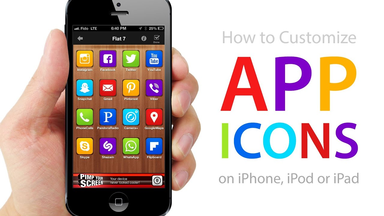 How To CUSTOMIZE APP ICONS On IPhone IPod IPad No Jailbreak Required