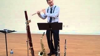 Piazzolla Tango Etudes I. Décidé, Bret Pimentel, flute