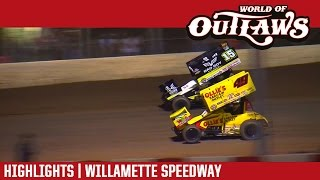 World of Outlaws Craftsman Sprint Cars Willamette Speedway Highlights
