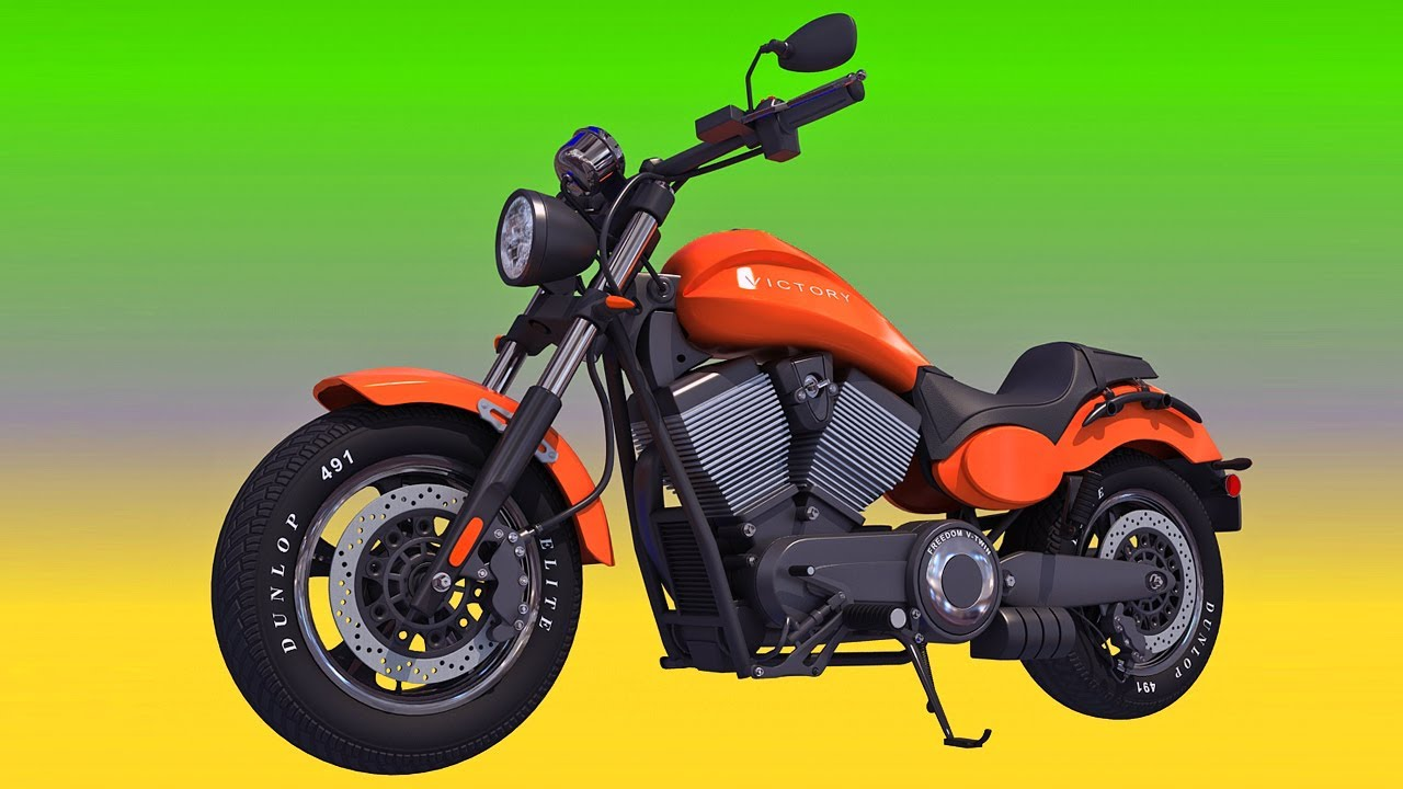 Polaris Victory Judge Motorcycle 3d Model Youtube