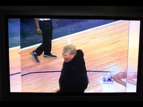 Don Nelson shows off his soccer skills