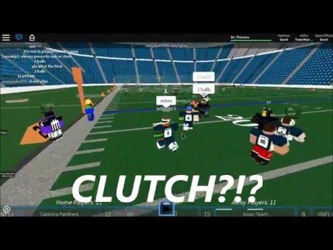 =NFL= Roblox NFL Football Highlights | SEA @ CAR || CLUTCH GAME || S4