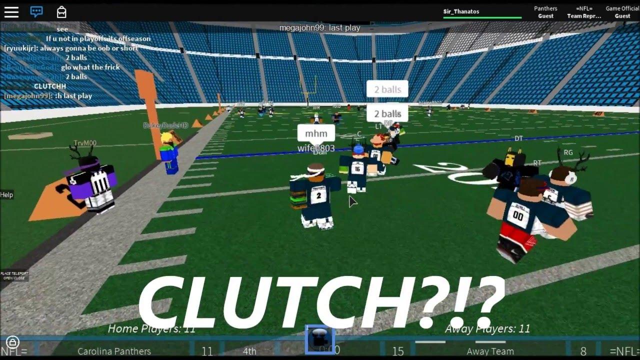 =NFL= Roblox NFL Football Highlights | SEA @ CAR || CLUTCH ...