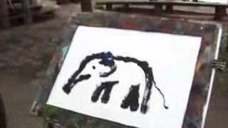 elephant painting self portrait 1