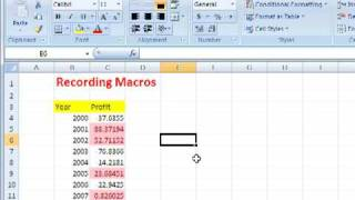 Recording Macros in Excel thumbnail