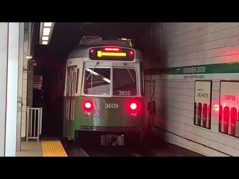 MBTA Green Line action at Government Center 7/2/20