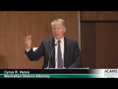 Special QA with Manhattan District Attorney Cyrus R. Vance | ACAMS
