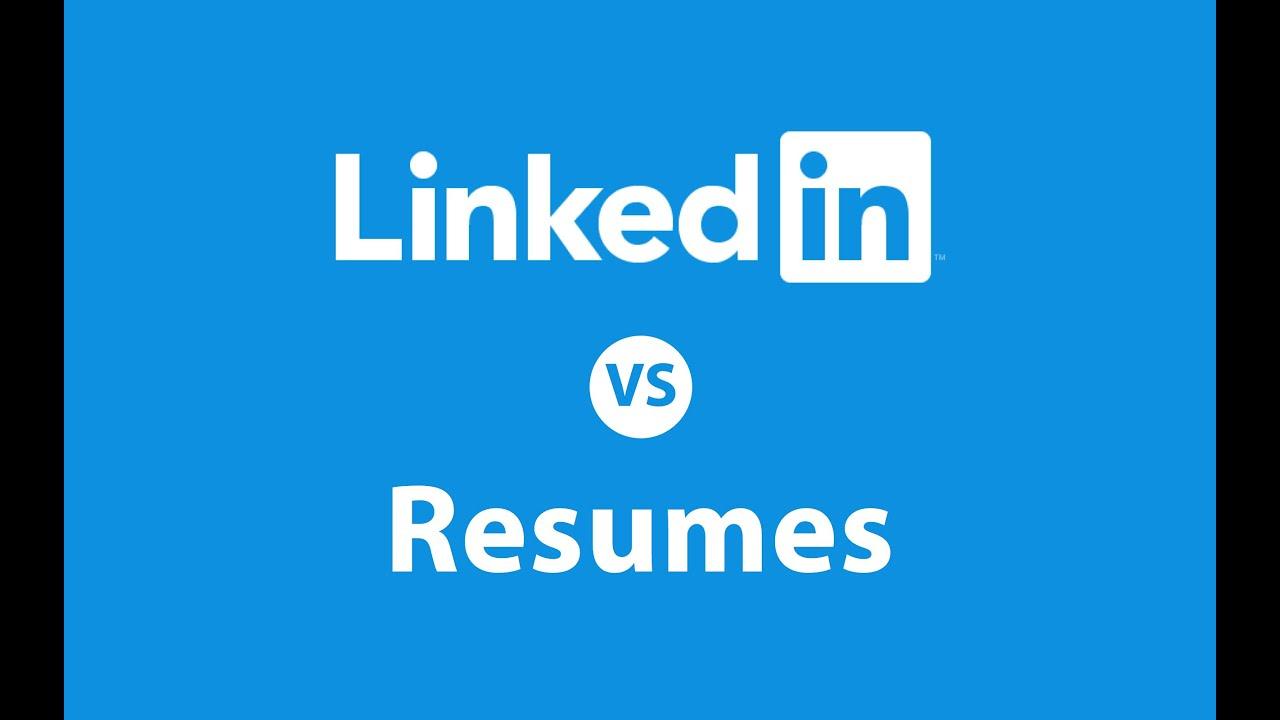 linkedin vs resume  who wins the battle
