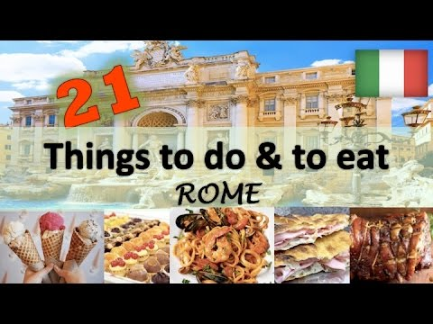What to eat in Rome   Italy 2017