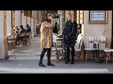 Parisian fashionistas in fur, how to be Parisian chic in the cold.