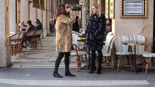 Parisian fashionistas in fur, how to be Parisian chic in the cold. Part II.