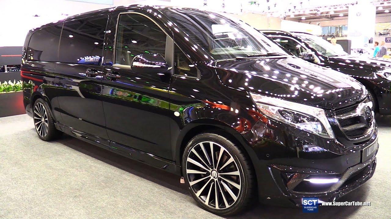 Mercedes Benz V Class Black Crystal   Exterior Walkaround   2016 Moscow  Automobile Salon   YouTube
