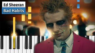 Ed Sheeran - Bad Habits - Piano Tutorial