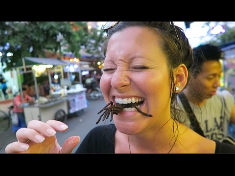 EATING BUGS in Cambodia!