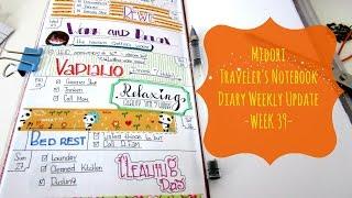 Midori Traveler's Notebook- Diary Weekly Update-WEEK 39-