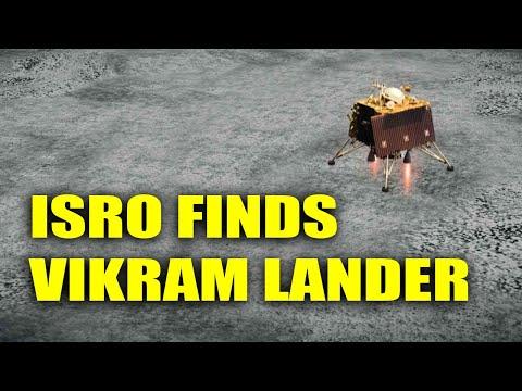 ISRO spots Vikram Lander on lunar surface, orbiter captures image   Oneindia News