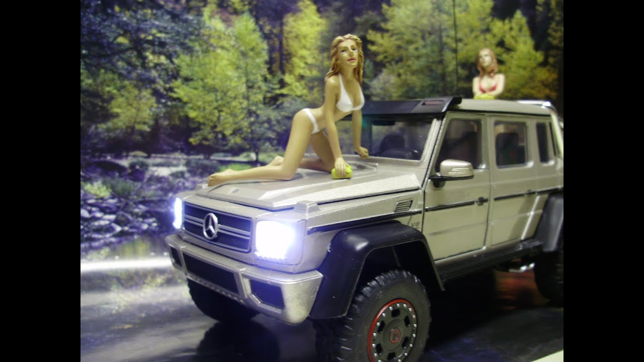 custom 124 diecast mercedes benz g 63 amg 6x6 w working lights g wagon