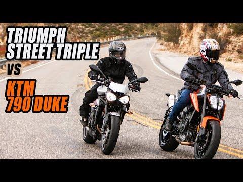 KTM  Duke vs Triumph Street Triple R Comparison