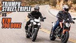 2019 KTM 790 Duke vs Triumph Street Triple R Comparison