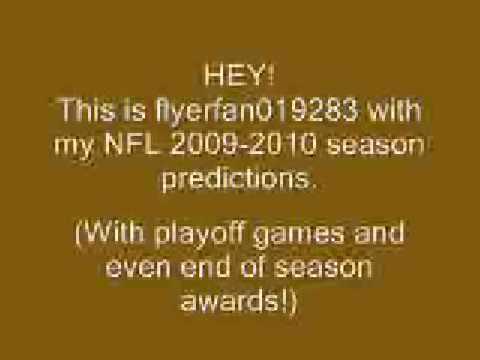 NFL 2009-2010 Season Predictions