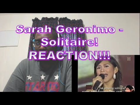 Sarah Geronimo - Solitaire! REACTION!!!