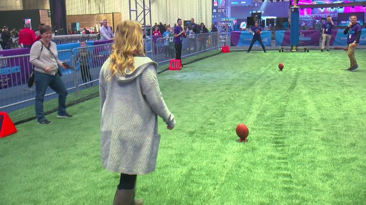 817381884 Checking Out Play 60 Kids  Day At Super Bowl Experience - YouTube