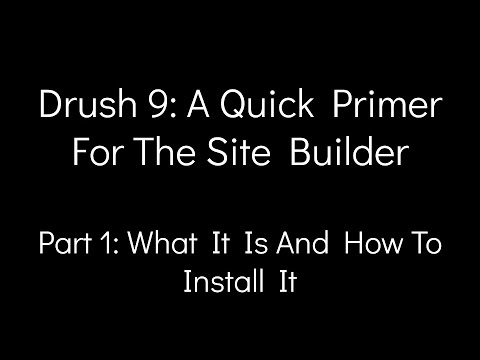 Drush 9: A Quick Primer For The Site Builder - Part 1: What It Is And How To Install It thumbnail