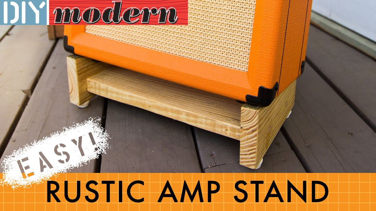 How To Make A Simple Amplifier Stand Youtube
