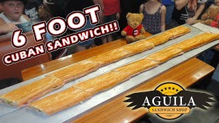 Biggest Cuban Sandwich Challenge (6ft Long) in Tampa, Florida!!