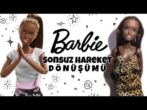 Yeni Barbie Sonsuz Hareket Siyahi TÜRKİYE'de İLK! Barbie Dönüşümü #mellbie #barbiesonsuzhareket