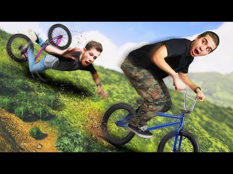 DANGEROUS BMX Race Down A Mountain! | GTA5