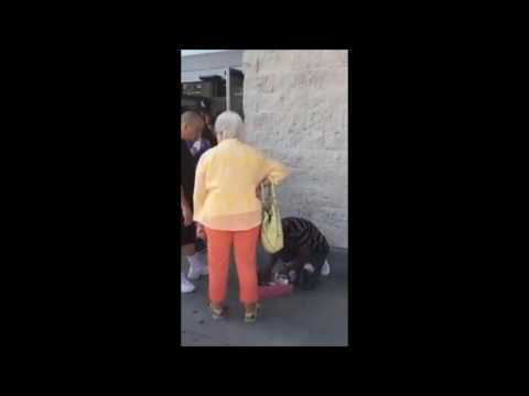 Racist woman bullying little black boy selling candy & saying you should see how they live