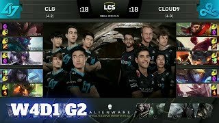 CLG vs Cloud 9 | Week 4 Day 1 S10 LCS Summer 2020 | CLG vs C9 W4D1