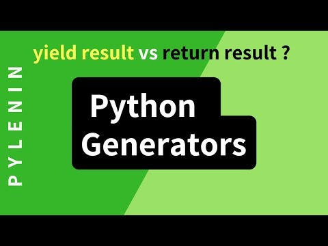 Python Generators | Yield Vs Return | Advanced Python | Tutorial 21