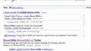 Google Real Time Search - A Quick Look