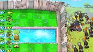 Plantas vs Zombies Supervivencia infinito nivel 1, 2, 3, 4, 5, 6, 7, 8, 9 y 10