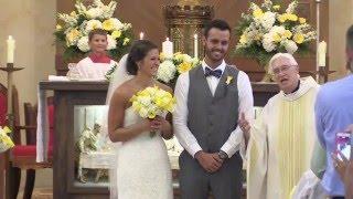 Ashley + Casey | St. Roch Catholic Church Wedding Highlight | Indianapolis