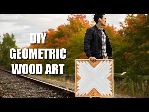 DIY Geometric Wood Art