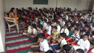 Art Excel children chanting AUM in an Art Excel course in Bangalore