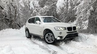 2017 BMW X3 xDrive20d F25 LCI Facelift Got Stuck On A 20% Slope & Slides Down A Snowy | Icy Hill