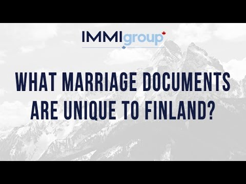 What marriage documents are unique to Finland?